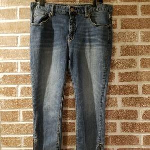 Free People Womens Ankle Zipper Jeans